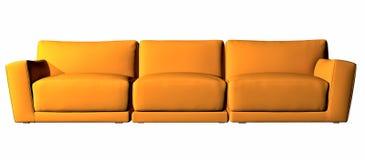 Orange three seater couch Stock Photo