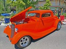 Orange Three Window Coupe Stock Photos