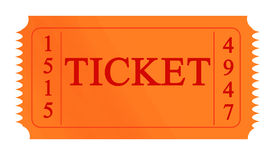 Orange ticket Stock Images