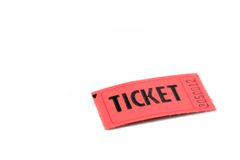 Orange ticket on white Royalty Free Stock Images
