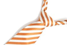 Orange tie isolated Royalty Free Stock Photo