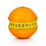Orange tightened measuring tape Royalty Free Stock Image