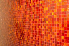 Orange tile mosaic Stock Photo