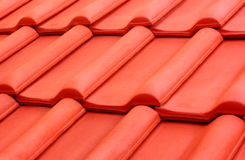 Orange tile roof  Stock Image