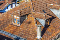Orange tile rooftops in Porto old town, Portugal Stock Images