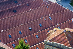 Orange tile rooftops in Porto old town, Portugal Royalty Free Stock Photos
