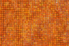 Orange tile wall Royalty Free Stock Photos