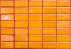 Orange tile wall Royalty Free Stock Image