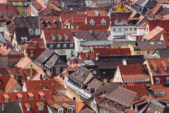 Orange tiled roofs Stock Photography