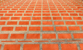Orange-tiled staircase Stock Image