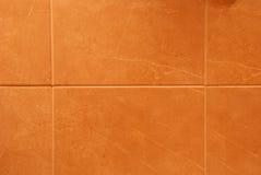 Orange tiles. Close up of bathroom or kitchen orange tiles Royalty Free Stock Images