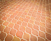 Orange tiles floor Stock Photography