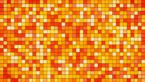 Orange tiles glass mosaic background Stock Photos