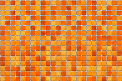 Orange tiles - mosaic Stock Images