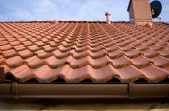Orange tiles on the roof Royalty Free Stock Images