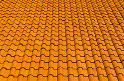orange tiles roof for background Stock Photos