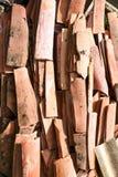 Orange tiles stacked Stock Photo