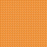 Orange tint mosaic dots seamless background. Orange tint square seamless background with multicolor dots Stock Photos