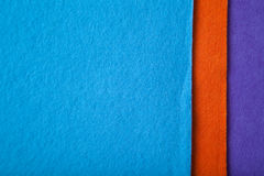 Orange  tissue. Orange and blue fabric texture made of cotton Stock Images