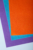 Orange  tissue. Orange purple and blue fabric texture made of cotton Stock Images