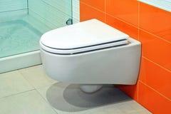 Orange toilet Royalty Free Stock Photo