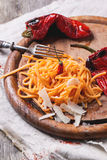 Orange Tomato Spaghetti Royalty Free Stock Images
