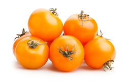 Orange tomatoes Stock Image
