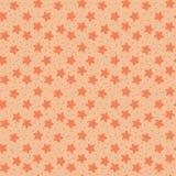 Orange tones stars seamless pattern Stock Photography