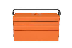 Orange tool box. Isolated on white background Royalty Free Stock Photo