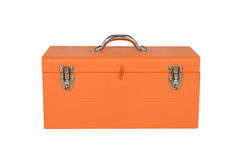 Orange tool box. Isolated on white background Royalty Free Stock Image
