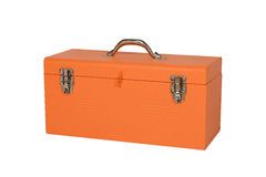 Orange tool box. Isolated on white background Stock Photo