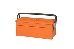 Orange tool box Royalty Free Stock Photography