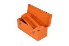 Orange tool box. Isolated on white background Royalty Free Stock Images