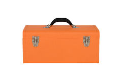 Orange tool box. Isolated on white background Royalty Free Stock Photography