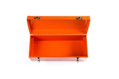 Orange tool box isolated on white background Stock Photography