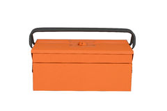 Orange tool box. On white background Royalty Free Stock Image