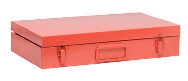 Orange toolbox Stock Photos