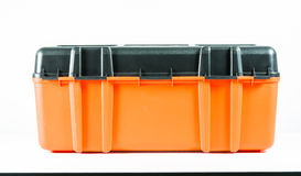 Orange toolbox isolated Royalty Free Stock Images