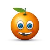 Orange toothless emoji. An orange toothless emoji image Royalty Free Stock Photo