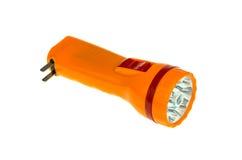Orange torch light. On white background Royalty Free Stock Photo