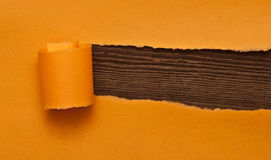 Orange torn paper Royalty Free Stock Photo
