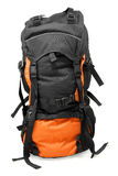 Orange tourist backpack Royalty Free Stock Photo