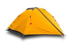Orange touristisches Zelt stockfotos