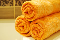 Orange Towels Stock Photos