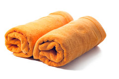 Orange towels Royalty Free Stock Photography