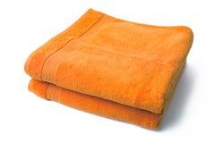 Orange towels Royalty Free Stock Photo