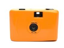 Orange toy camera Stock Images