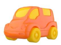 Orange toy car Stock Photos