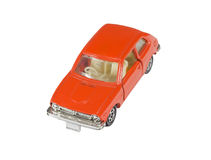 Orange toy car isolated on a white Stock Images