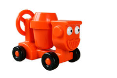 Orange toy cement truck Royalty Free Stock Photo